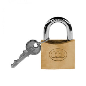 Tri- Circle Heavy Duty Brass Padlock - 25mm  At Beattys Loughrea Galway. Www.beattys.ie