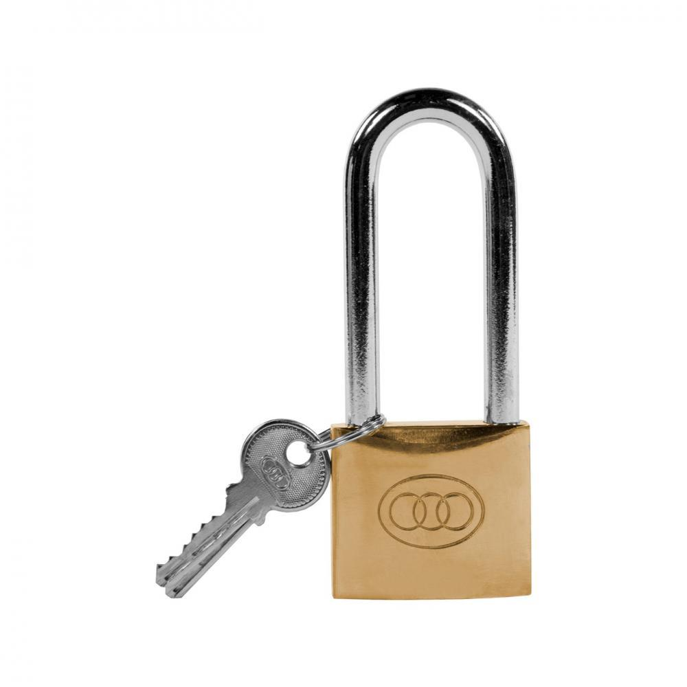 Tri- Circle Heavy Duty Brass Padlock - 2in  At Beattys Loughrea Galway. Www.beattys.ie