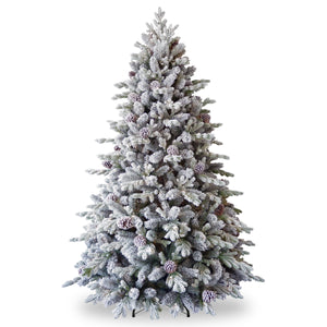 National Tree Company Snowy Dorchester Pine Feel Real Tree  - 7.5ft  At Beattys Loughrea Galway. Www.beattys.ie
