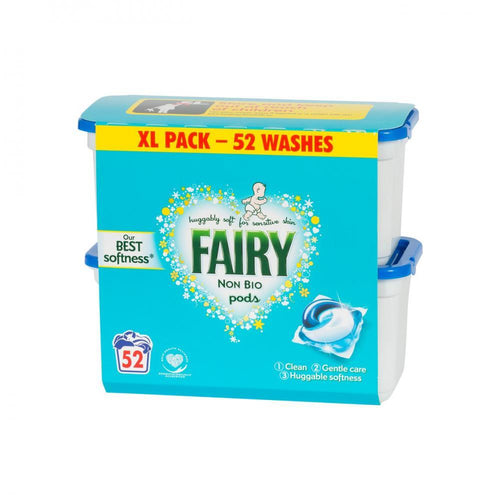 Fairy Non Bio 3 in 1 Pods Washing Capsules - 52 Washes - Beattys of Loughrea , www.beattys.ie