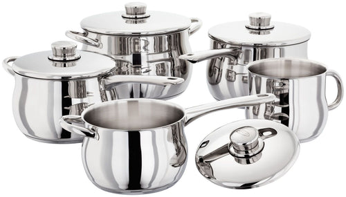 STELLAR 1000 5PC SAUCEPAN SET PP415B S1F5B  At Beattys Loughrea Galway. Www.beattys.ie