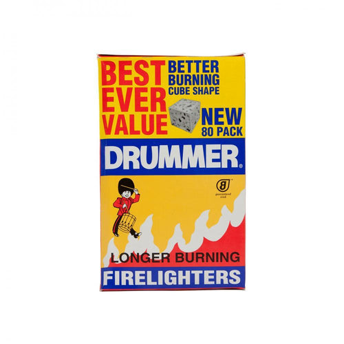 Drummer Firelighters (80 Pack) Buy Instore or online at beattys.ie