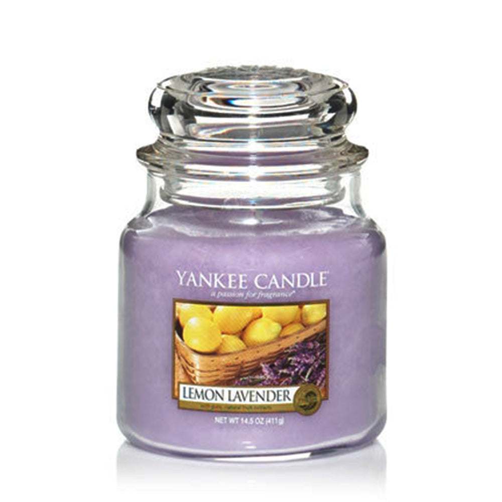 Lemon Lavender Medium Yankee Candle 411g  At Beattys Loughrea Galway. Www.beattys.ie