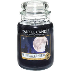 Midsummers Night Large Yankee Candle 623g  At Beattys Loughrea Galway. Www.beattys.ie