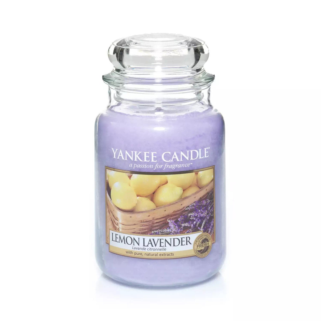Lemon Lavender Large Yankee Candle 623g - Beattys of Loughrea , www.beattys.ie