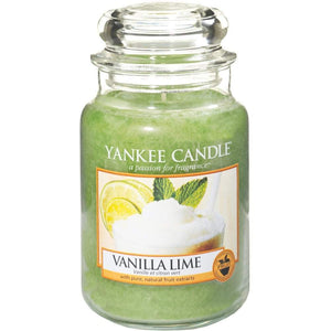 Vanilla Lime Large Yankee Candle 623g  At Beattys Loughrea Galway. Www.beattys.ie