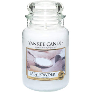 Baby Powder Large Yankee Candle 623g  At Beattys Loughrea Galway. Www.beattys.ie
