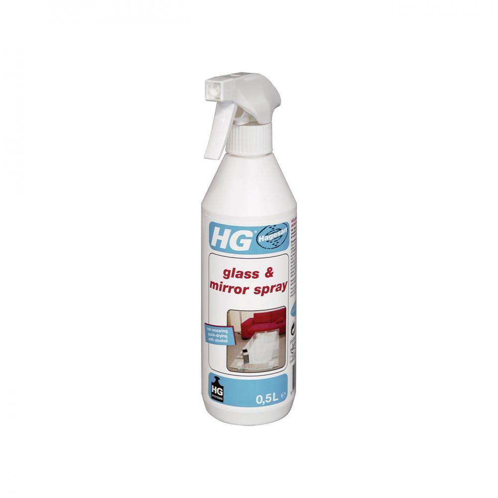 HG Glass & Mirror Cleaning Spray - 500ml  At Beattys Loughrea Galway. Www.beattys.ie