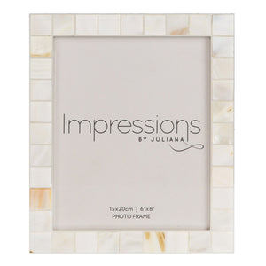 "6"" x 8"" - Impressions Shell Mosaic Inlay Photo Frame - Beattys of Loughrea , www.beattys.ie"