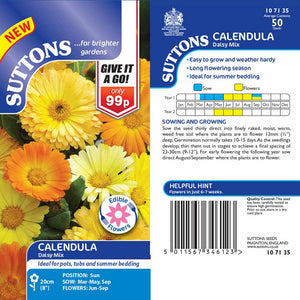 SUTTONS CALENDULA DAISY MIX - Beattys of Loughrea , www.beattys.ie