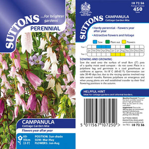 SUTTONS CAMPANULA COTTAGE GARDEN MIX G107256 Buy Instore or online at beattys.ie