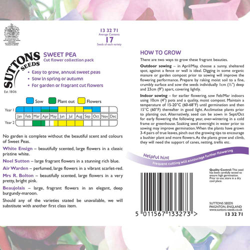 SUTTONS SWEET PEA COLLECTION 133271 - Beattys of Loughrea , www.beattys.ie