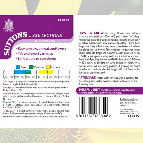 SUTTONS SUNFLOWER COLLECTION 139800 - Beattys of Loughrea , www.beattys.ie