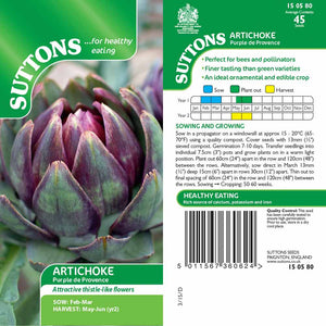 SUTTONS ARTICHOKE PURPLE DE PROVENCE G150580 - Beattys of Loughrea , www.beattys.ie