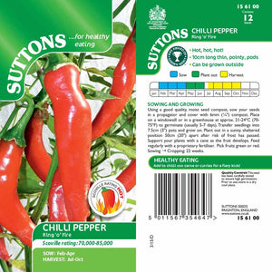SUTTONS CHILLI PEPPER RING O FIRE G156100