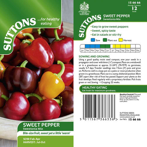 SUTTONS PEPPER SWEET SWEETONIA MIX G156666 - Beattys of Loughrea , www.beattys.ie