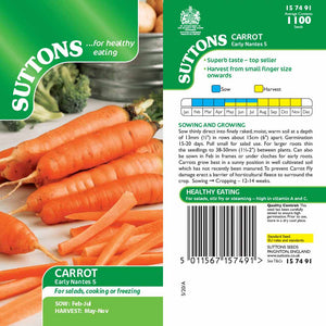 SUTTONS CARROT EARLY NANTES 5 157491 - Beattys of Loughrea , www.beattys.ie