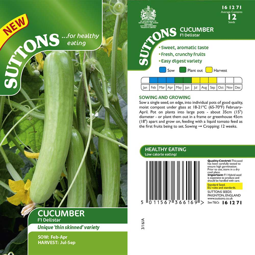 SUTTONS CUCUMBER F1 DELISTAR G161271 - Beattys of Loughrea , www.beattys.ie
