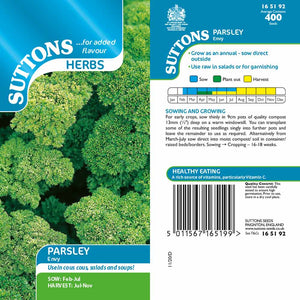 SUTTONS HERB PARSLEY ENVY 165192