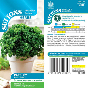 SUTTONS HERB PARSLEY MOSS CURLED 2 - Beattys of Loughrea , www.beattys.ie