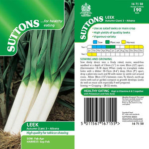 SUTTONS LEEK AUTUMN GIANT 3 ALABANA 167150 Buy Instore or online at beattys.ie