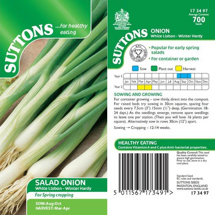 SUTTONS SPRING ONION WHITE LISBON WINTER HARDY 173497 Buy Instore or online at beattys.ie