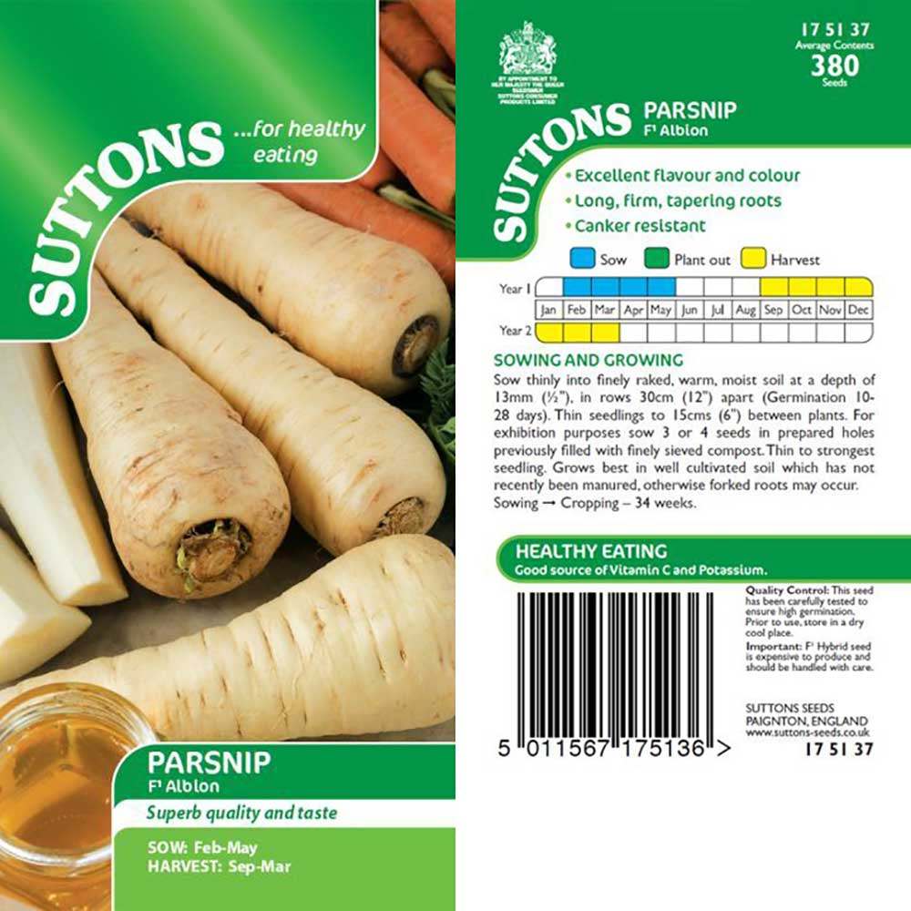 SUTTONS PARSNIP ALBION F1 G175137 - Beattys of Loughrea , www.beattys.ie