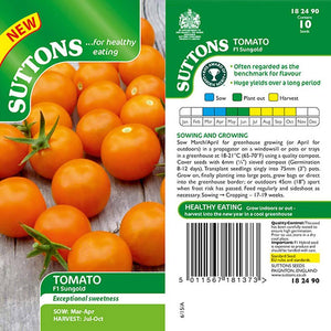 SUTTONS TOMATO SUNGOLD F1 G182490 - Beattys of Loughrea , www.beattys.ie