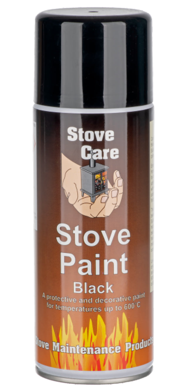 Stove Care Matt Black Stove Paint - 400ml. Buy at Beattys Loughrea Galway. Www.beattys.ie