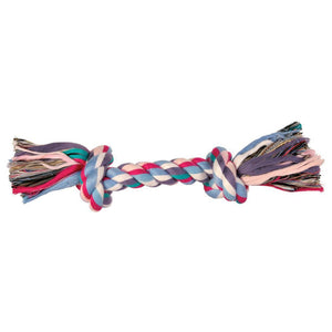 2 KNOT COLOUR ROPE TOY 26CM MEDIUM - Beattys of Loughrea , www.beattys.ie