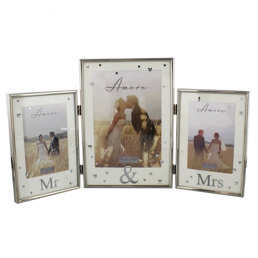 AMORE BY JULIANA® Silver Plated Triple Photo Frame - Mr & Mr  Buy at Beattys Loughrea. Www.beattys.ie