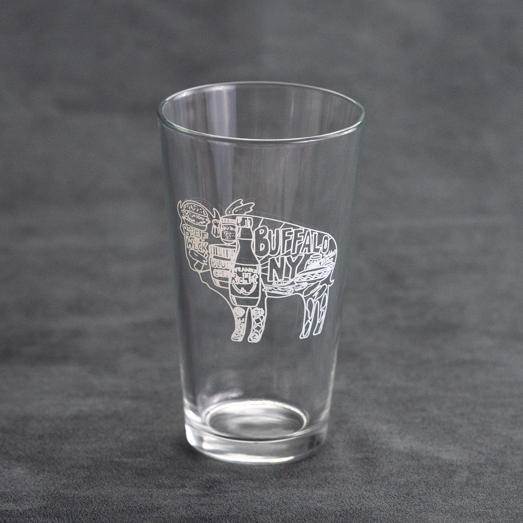 Buffalo Foods Pint Glass
