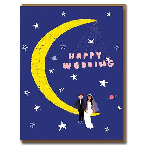Moonlight Wedding Greeting Card - 1973 by Carolyn Suzuki