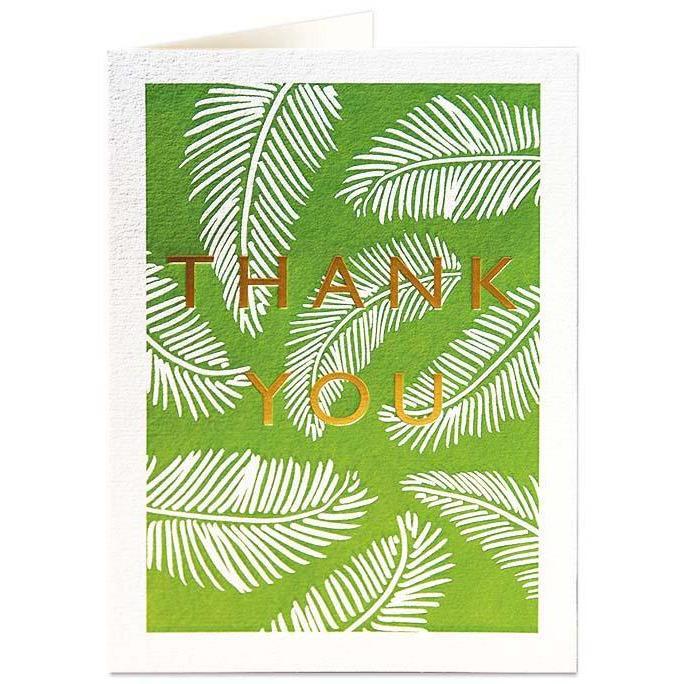 Thank, Ferns Greeting Card - Archivist Press