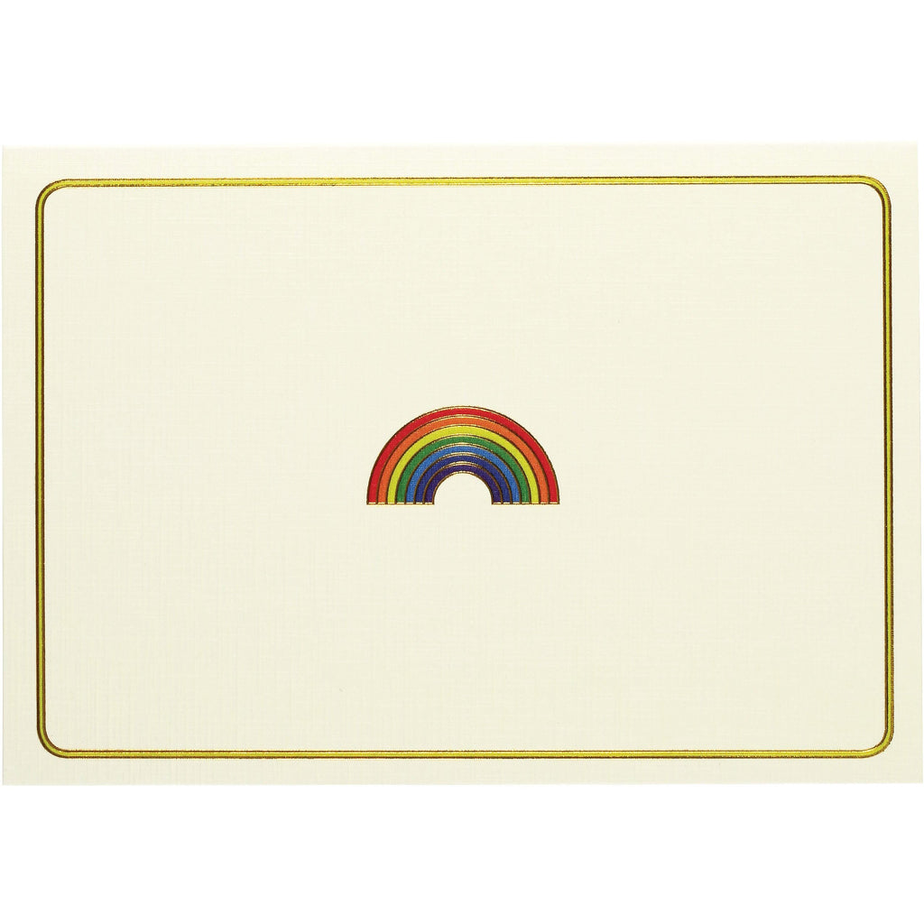 Rainbow Folded Note Cards - Peter Pauper Press (Pack of 14)