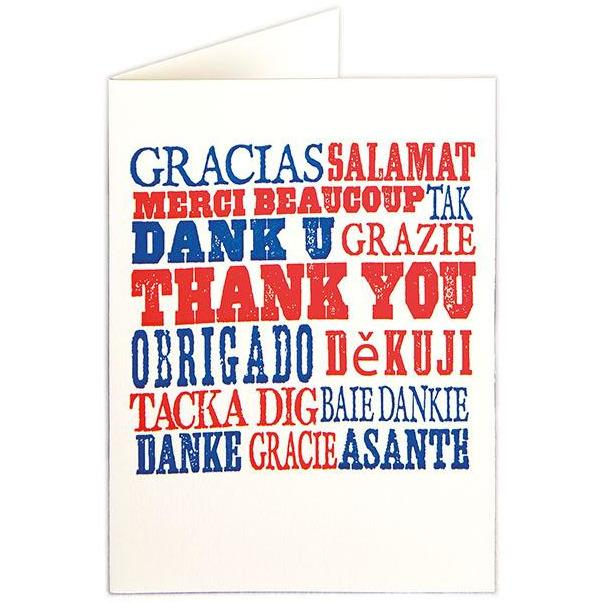 Thank You Folded Note Cards - Archivist Press  (Pack of Five)
