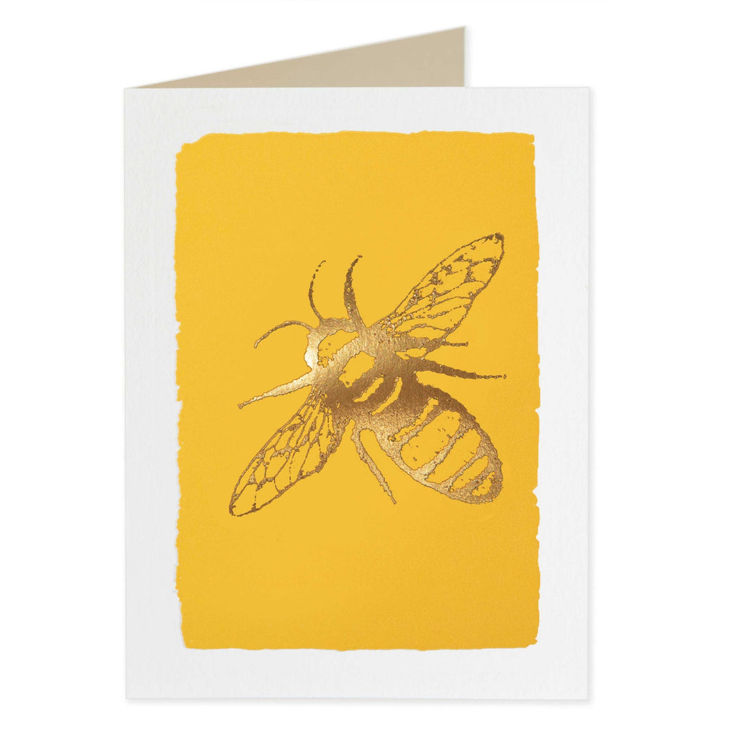 Gold Bee Folded Note Cards - Archivist Press (Pack of Five)