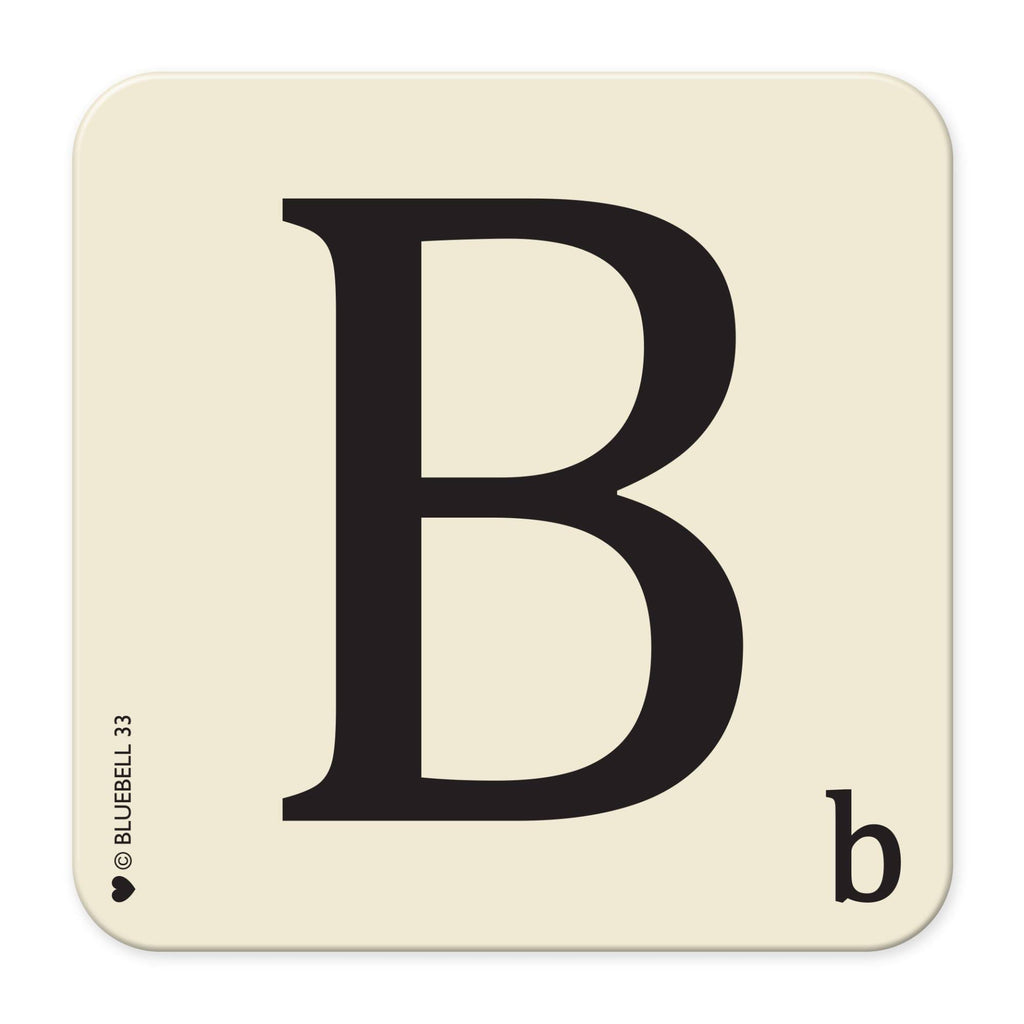 B' Letter Scrabble Coaster - Bluebell 33