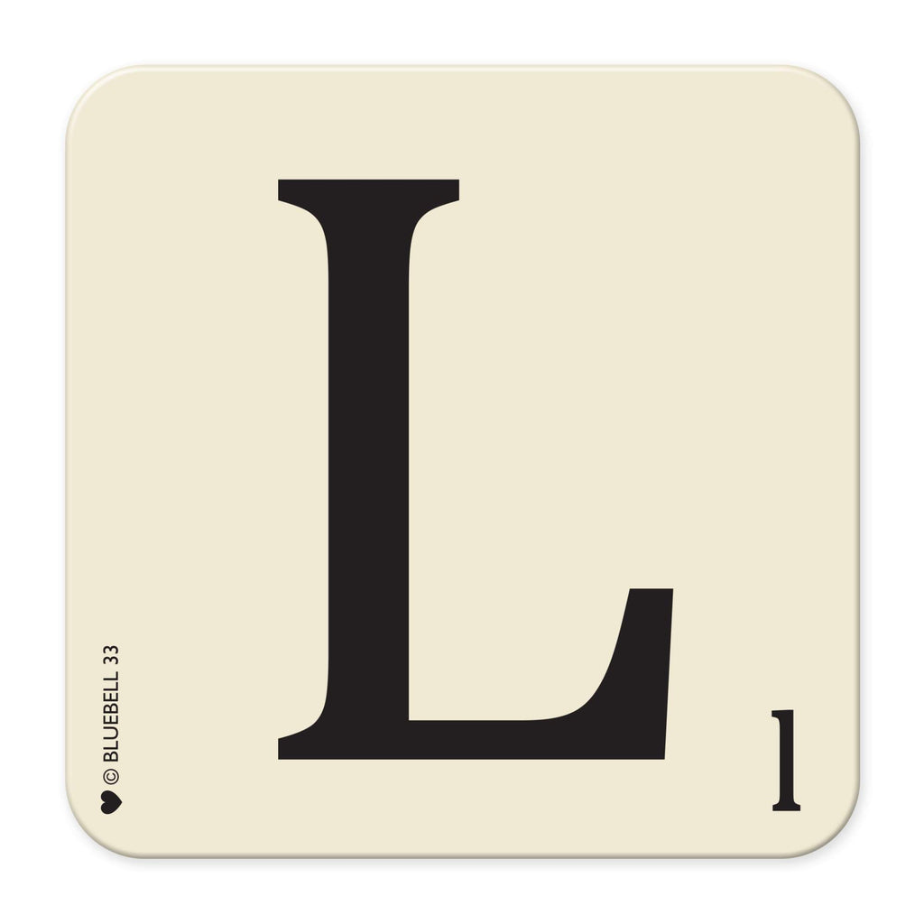 L' Letter Scrabble Coaster - Bluebell 33