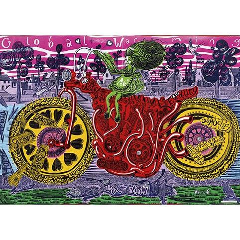 Selfie With Political Causes Greeting Card - Artpress by Grayson Perry