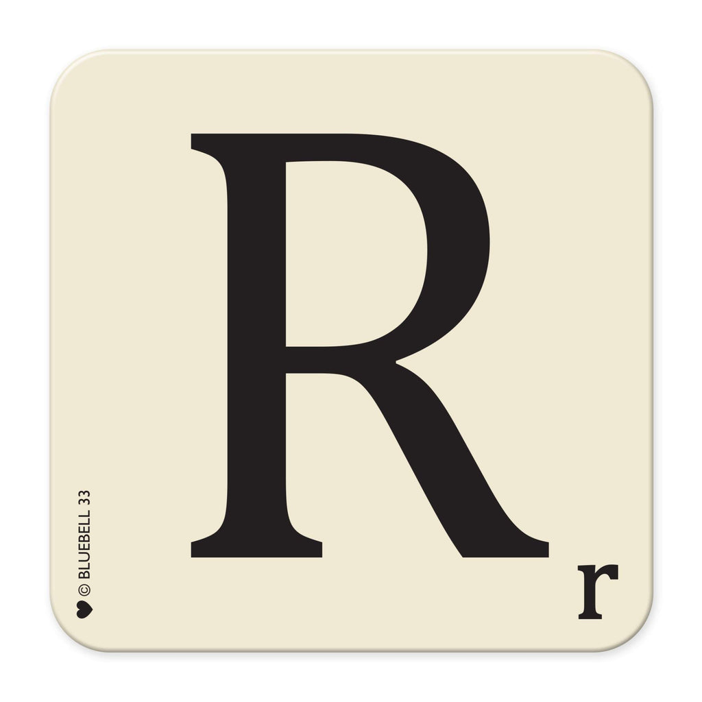R' Letter Scrabble Coaster - Bluebell 33