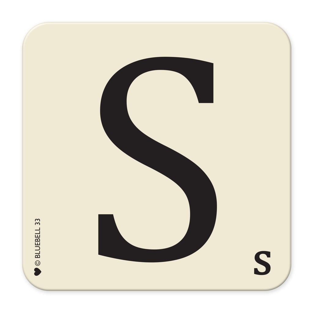 S' Letter Scrabble Coaster - Bluebell 33