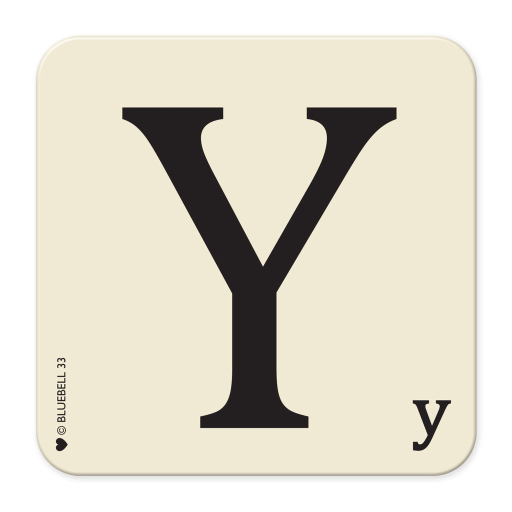 Y' Letter Scrabble Coaster - Bluebell 33