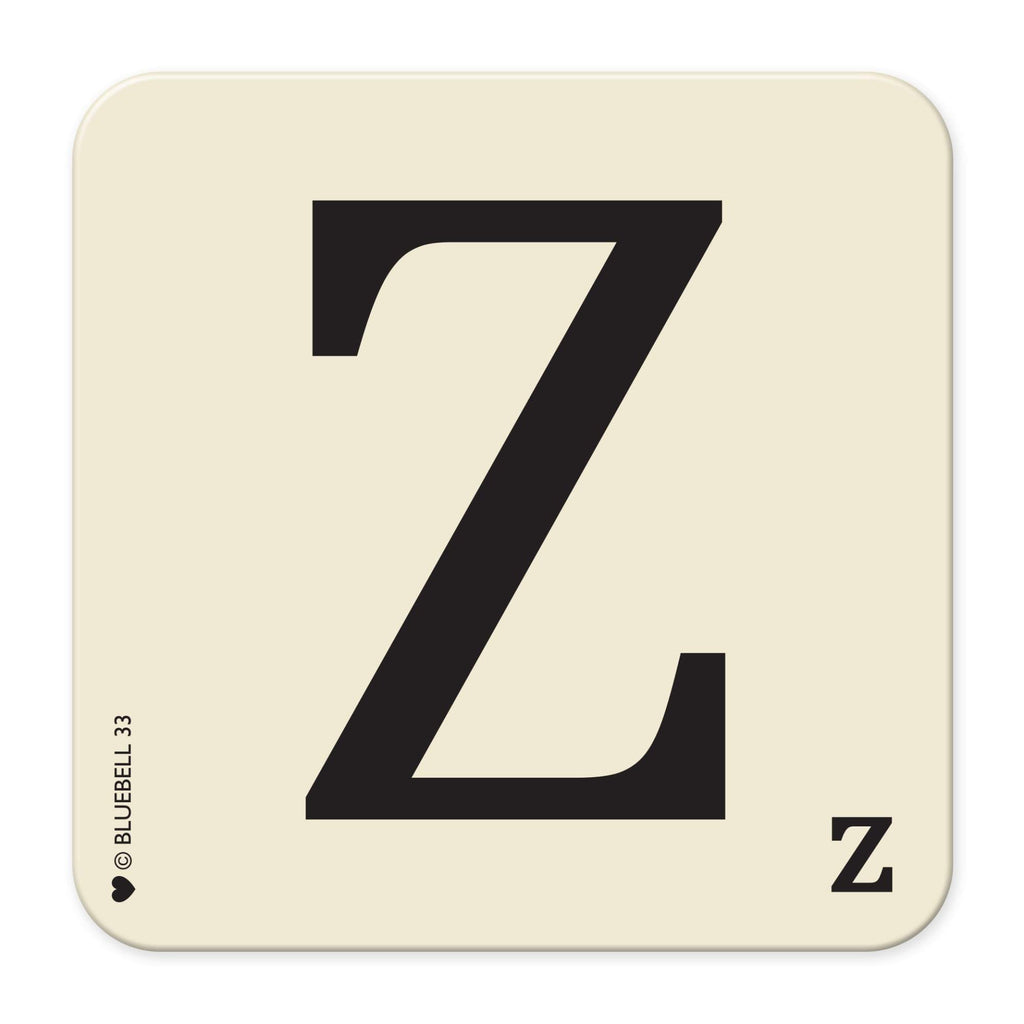 Z' Letter Scrabble Coaster - Bluebell 33