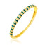 Zirconia Striped Green Enamel Bangle Gold Plated Bracelet Wholesale 925 Crt Sterling Silver  Turkish Jewelry