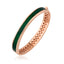 925 Crt Sterling Silver Green Enamel Zirconium Rhombus Bangle Gold Plated Bracelet Wholesale Turkish Jewelry