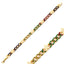 Colorful Zirconium and Star Cuban Curb Gold Plated Bracelet Wholesale 925 Crt Sterling Silver   Turkish Jewelry
