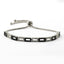 Black White Zirconia Rectangle Gold Plated Adjustable Bracelet Wholesale 925 Crt Sterling Silver  Turkish Jewelry