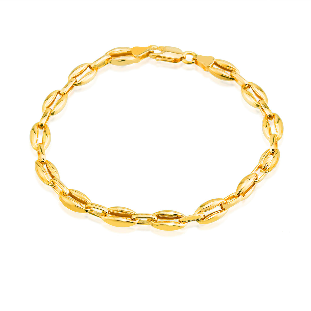 Best Price Shell Design Big Chunky Chain Gold Plated Fashionable Summer Bracelet Wholesale 925 Crt Sterling Silver Turkish Jewelry