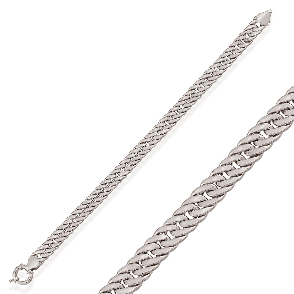 Thick Cuban Curb Chain-6 Gold Plated Trendy Bracelet Wholesale 925 Crt Sterling Silver  Turkish Jewelry